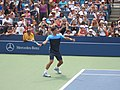 Federer on Armstrong (shots and serves) (3) (7856700394).jpg