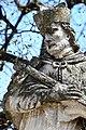 Fehérgyarmat, templomkerti Nepomuki Szent János-szobor 2021 13.jpg
