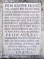 Felixdorf Gedenktafel Felix Mießl 1823.jpg
