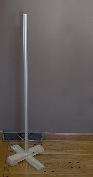 The festivus pole, unadorned and non-lit.