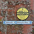 Fine AA roadsign at Wiggaton - geograph.org.uk - 1771708.jpg