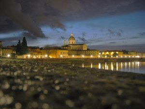 San Frediano in Cestello - View from the Ponte alla Carraia