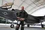 First F-35B Lightning II arrives at MCAS Beaufort 140717-M-UU619-890.jpg