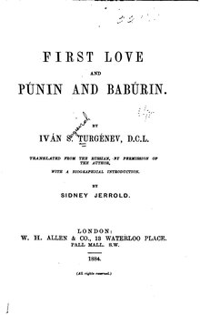First Love and Punin and Babúrin.djvu