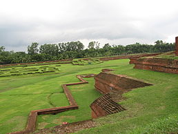 First level plinth at Somapura Mahavihara.jpg