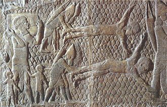 Torture - Assyrians skinning or flaying their prisoners alive