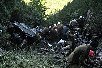 2010 IAF Sikorsky CH-53 crash - Site of the crash in the Carpathian Mountains