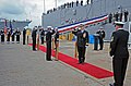 Flickr - Official U.S. Navy Imagery - A Rear Adm. salutes as he walks through side boys..jpg