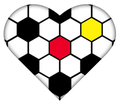 Football Heart Soccer Fußball Fussball Herz - Version Deutschland Germany Schwarz Rot Gold bubble shady.png