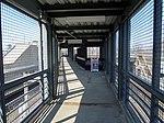 Footbridge from JFK UMass station to Columbia Road, April 2016.JPG