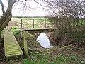 Footbridges on footpath junction - geograph.org.uk - 1209124.jpg
