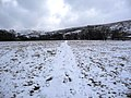 Footprints in the snow, Ramps Holme - geograph.org.uk - 1727775.jpg
