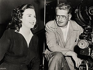 Deanna Durbin - Deanna Durbin and cinematographer William H. Daniels on the set of For the Love of Mary (1948)