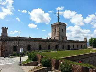 Barcelona - The fortress at Montjuïc, most southerly point from which measurements were made when calculating the meridional definition of the metre