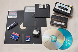 Floppy disk - Different data storage media.