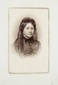 Fotografiporträtt på Margarethe Cecilie von Hallwyl. Walther von Hallwyls mamma, 1850 - 1893 - Hallwylska museet - 107586.tif