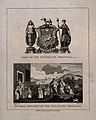 Foundling Hospital; above, the achievement of arms, below, C Wellcome V0013464.jpg