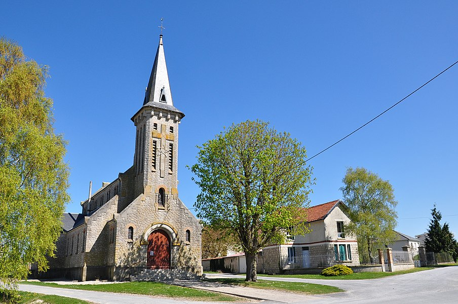 Church of Saint-Hilaire-le-Petit (Marne department, Champagne-Ardenne region, France).