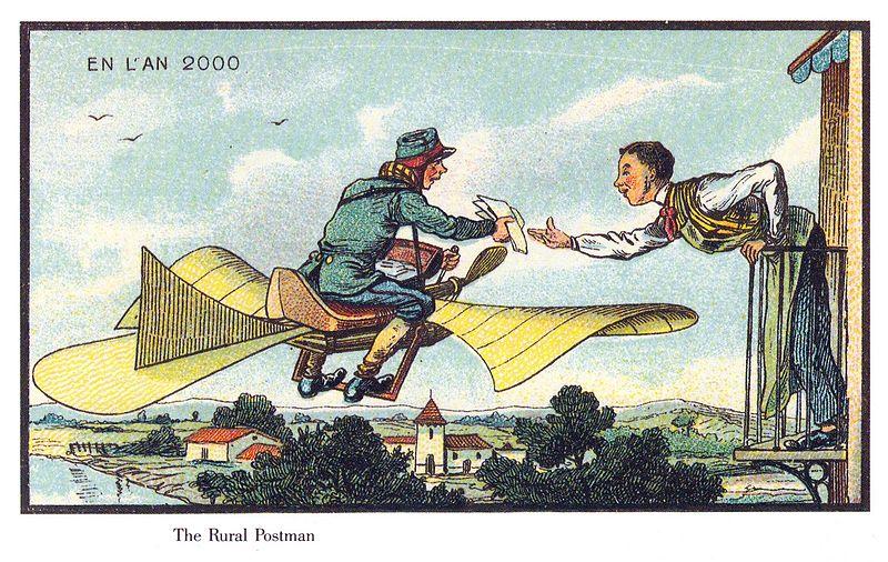 France in XXI Century. Air postman