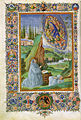 Francesco di antonio del chierico, visione di san bernardo in sermones in cantica canticorum di san bernardo e gilberto di hoyland, bibl ap vaticana, ms urb lat 93 f. 7v.jpg