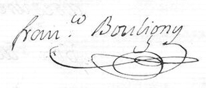 Francisco Bouligny - Image: Francisco Bouligny Signature