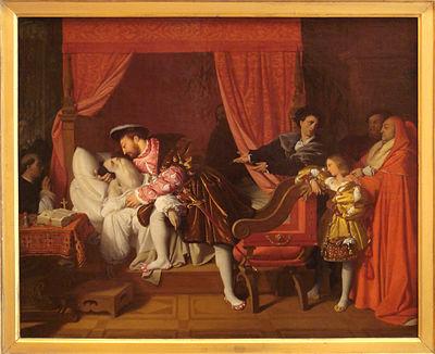 Francois I recoit les derniers soupirs de Leonard de Vinci by Ingres.jpg