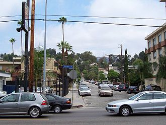 Franklin Avenue (Los Angeles) - View along Franklin Avenue, Los Angeles, California.