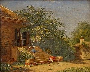 The Garden Steps Leading to the Painter Christen Købke's Studio at Blegdammen, Copenhagen