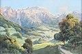 Franz Demel - Gebirgslandschaft mit einer Kirche im Tal.jpg