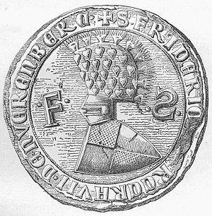 Frederick IV, Burgrave of Nuremberg - Seal of Burgrave Frederick IV