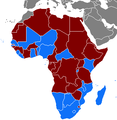 Freedom House electoral democracies in the African Union 2006.png