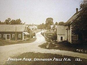 Effingham, New Hampshire - Image: Freedom Road, Effingham Falls, NH