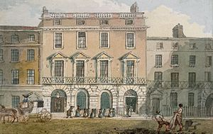 Freemasons' Tavern - Watercolour of the Freemasons' Tavern by John Nixon circa 1800