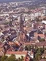 Freiburg im Breisgau Blick vom Schlossbergturm aufs Münster.jpg
