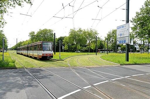 Freiligrathplatz in Duesseldorf-Stockum, von Norden