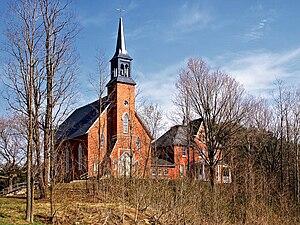 Frelighsburg, Quebec - Image: Frelighsburg Eglise St François Assise