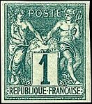 French Colonies imperf 1c Peace & Commerce stamp.jpg