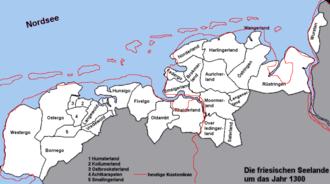 Frisian freedom - Frisian lands
