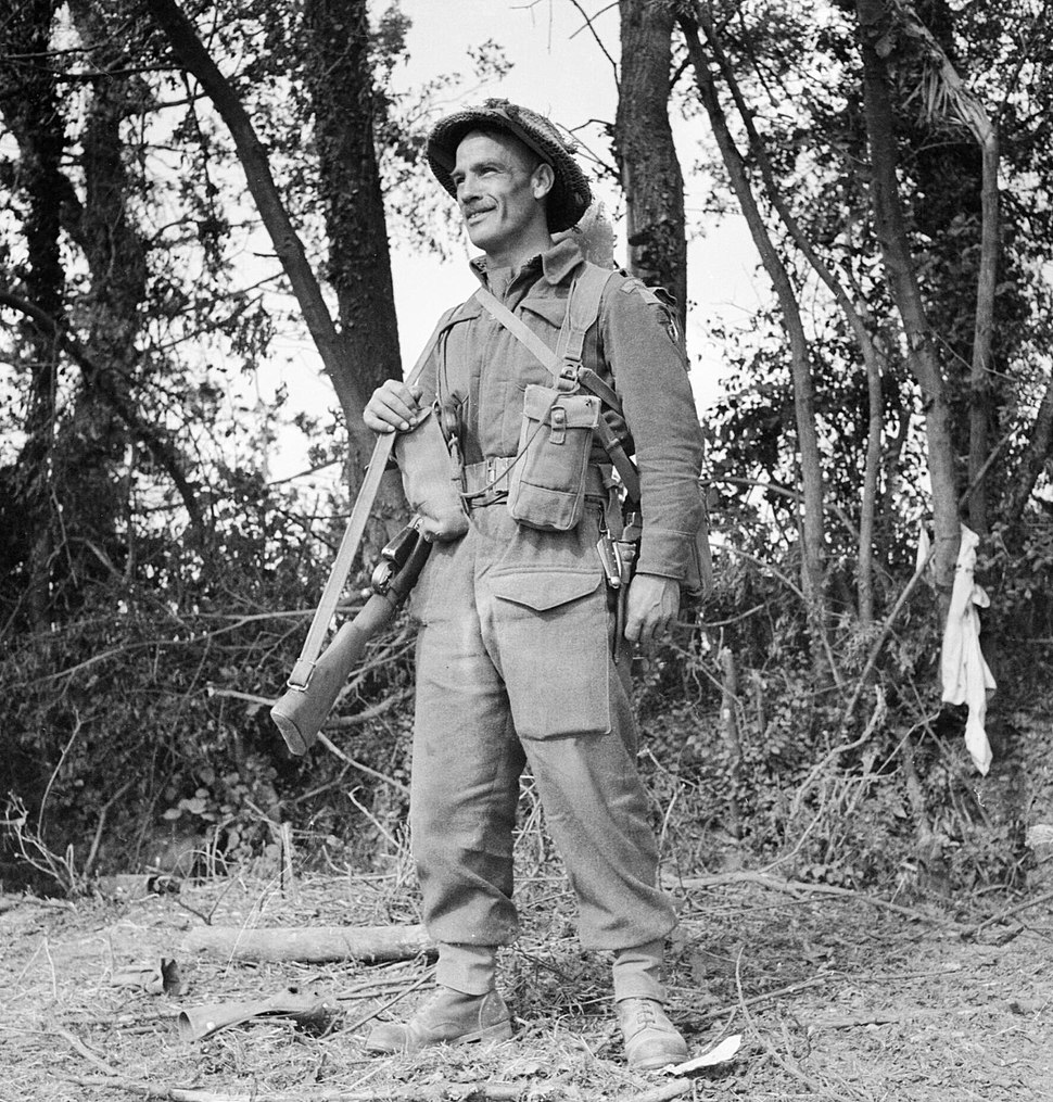 Fusilier Tom Payne from 11 Platoon, 'B' Company, 6th Battalion, Royal Welsh Fusiliers, Normandy, 12 August 1944. B9005