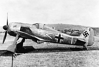 Jagdgeschwader 2 - Armin Faber's Focke-Wulf Fw 190A-3 of 11/JG 2 after landing in the UK by mistake in June 1942.