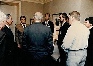9th G7 summit - Ronald Reagan and advisers at Williamsburg