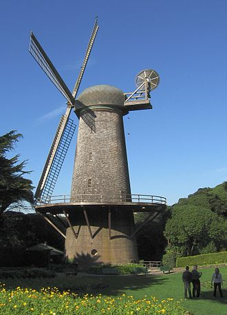 Dutch Windmill (Golden Gate Park) - Image: GG Park North Windmill 2