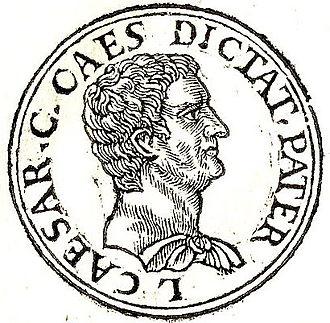 """Gaius Julius Caesar (proconsul) - Gaius Julius Caesar from """"Promptuarii Iconum Insigniorum"""""""
