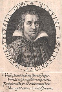 "Crispijn de Passe, ""Gabriel Rollenhagen"" (1611), engraving 13.5 x 10.1 cm (Special Collections University of Amsterdam). This is the only known portrait of Rollenhagen."