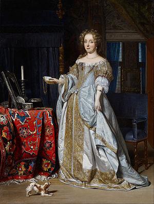 Gabriël Metsu - Portrait of Lucia Wijbrands, the wife of Jan Jacobszoon Hinlopen, by Gabriel Metsu