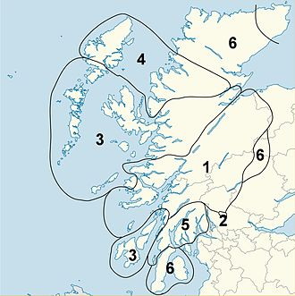 Preaspiration - The approximate distribution of preaspiration in Gaelic dialects