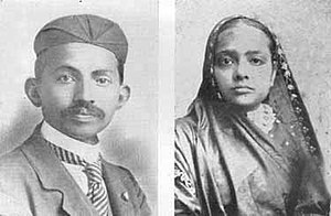 Mahatma Gandhi - Gandhi and his wife Kasturba (1902)