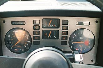 Pontiac Fiero - Base model (four-cylinder) metric (Canadian) Fiero gauge cluster