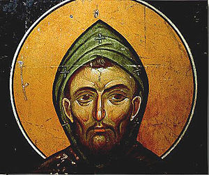 Lesnovo monastery - St Gabriel of Lesnovo, a fresco from Lesnovo