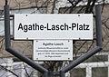 Gedenktafel Agathe-Lasch-Platz (Halsee) Agathe Lasch.jpg
